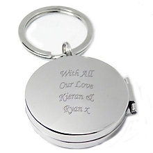 Engraved Round Photo Key Ring - Product number 1435132