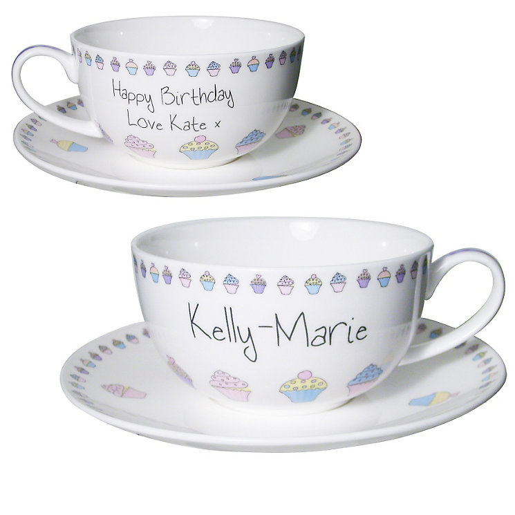 Personalised Cupcake Tea Cup And Saucer - Product number 1435248