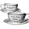 Personalised Floral Birds Teacup And Saucer - Product number 1435264