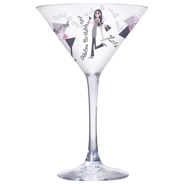 Personalised Fabulous Birthday Girl Cocktail Glass - Product number 1435280