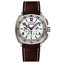 JEANRICHARD Aeroscope men's titanium leather strap watch - Product number 1437798
