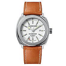 JEANRICHARD Terrascope men's brown leather strap watch - Product number 1437887