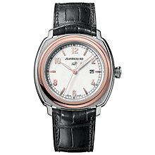 JEANRICHARD 1681 men's two colour black leather strap watch - Product number 1437925