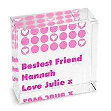 Personalised Spots Pink Crystal Token - Product number 1438018