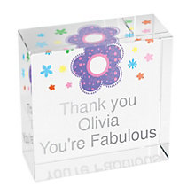 Personalised Floral Crystal Token - Product number 1438042