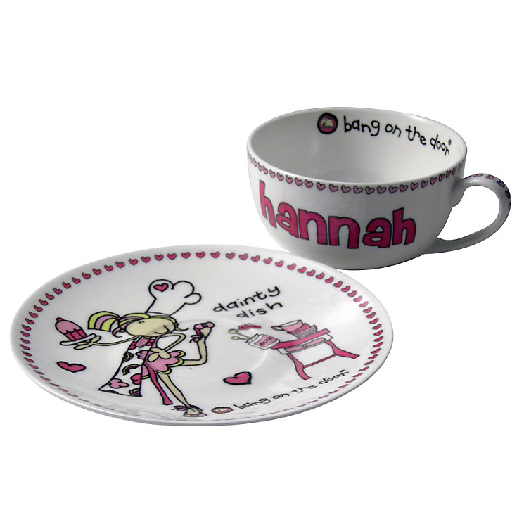 Personalised Bang on the Door Dainty Dish Teacup and Saucer - Product number 1438131