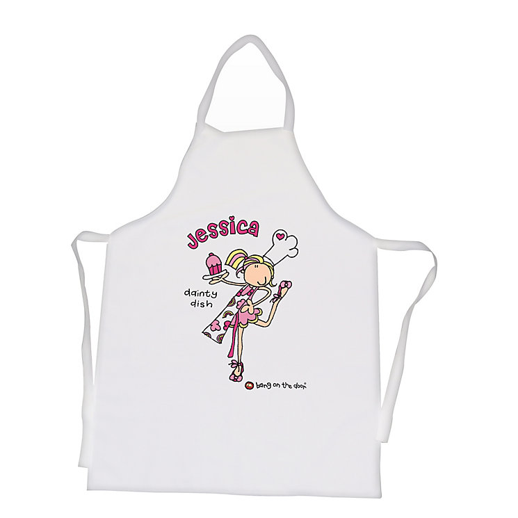 Personalised Bang on the Door Dainty Dish Apron - Product number 1438158