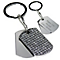 Engraved Diamante Key Ring - Product number 1438182