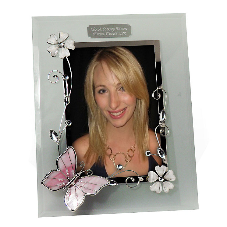 Engraved Butterfly 6x4 Photo Frame - Product number 1438522