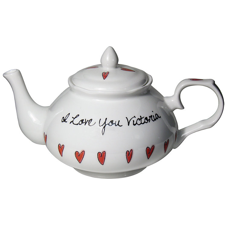 Personalised Hearts Design Tea Pot - Product number 1438662