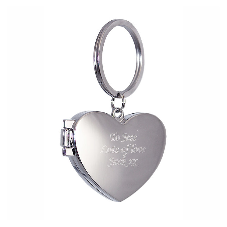 Engraved Heart Photo Frame Key Ring - Product number 1438719