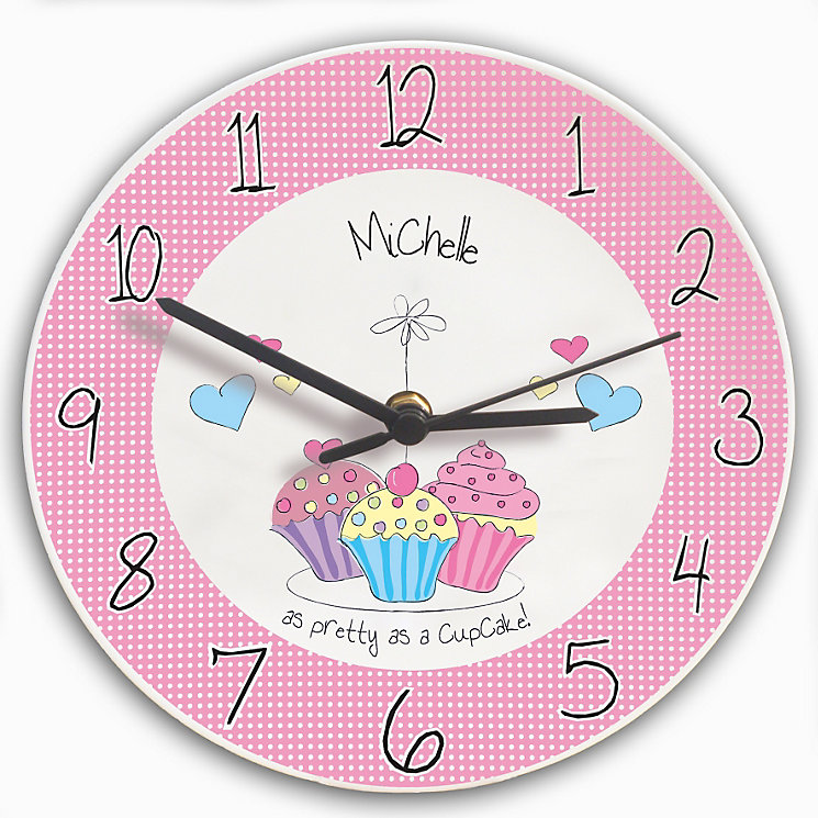 Personalised Cupcake Clock - Product number 1438816
