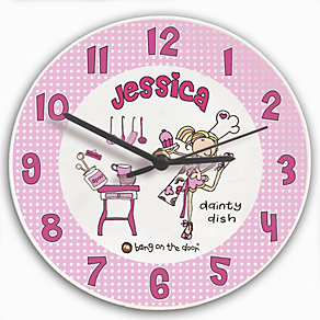 Personalised Bang on the Door Dainty Dish Clock - Product number 1438824
