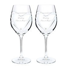 Engraved Swarovski Wine Glasses - Product number 1438867