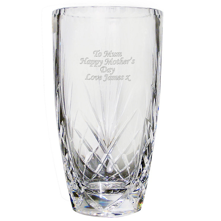 Engraved Crystal Oval Vase - Product number 1438875