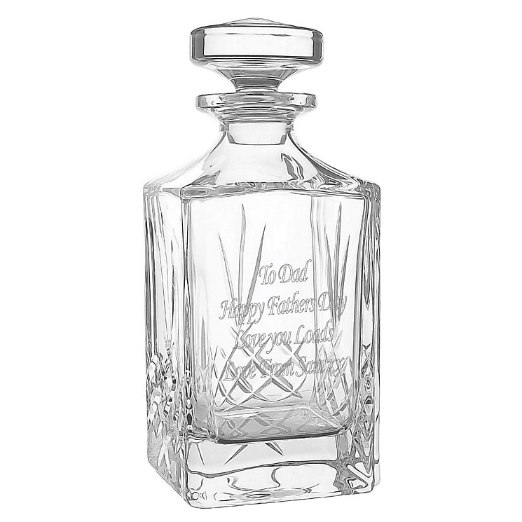 Engraved Cut Crystal Decanter - Product number 1438891
