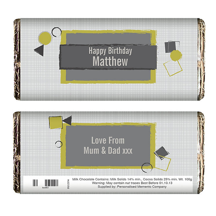 Personalised Retro Design Chocolate Bar - Product number 1438972