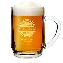 Engraved Beer Label Tankard - Product number 1439332