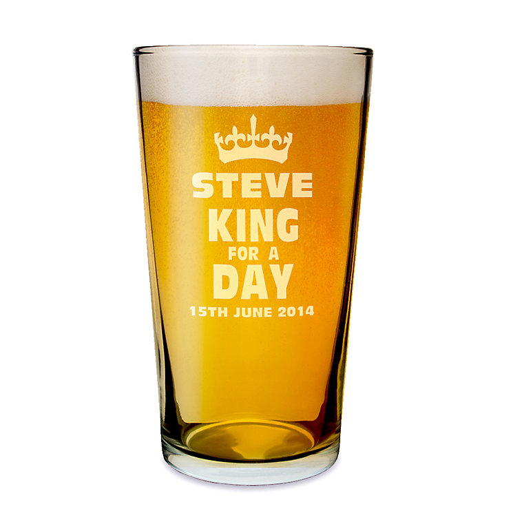 Engraved King for a Day Pint Glass - Product number 1439340