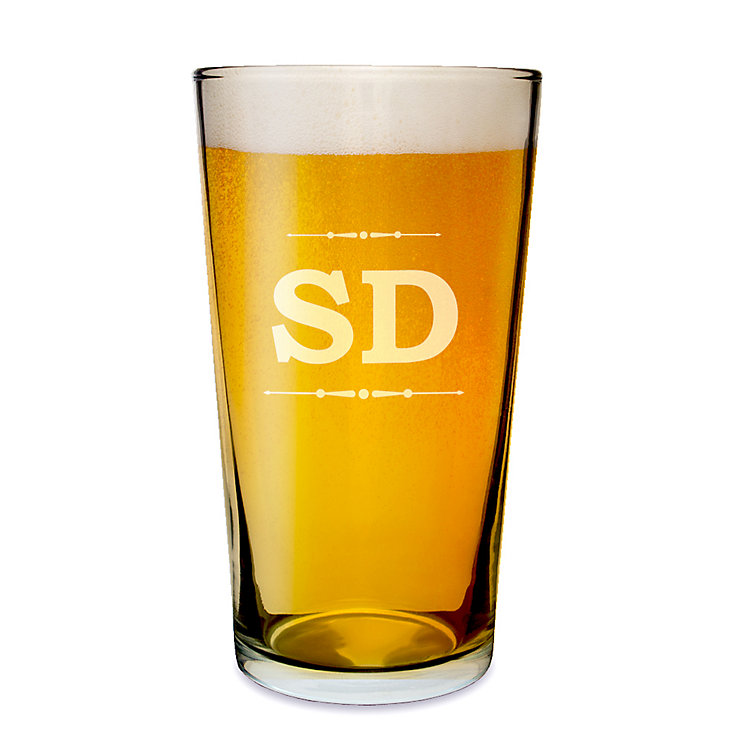 Engraved Initials Pint Glass - Product number 1439359