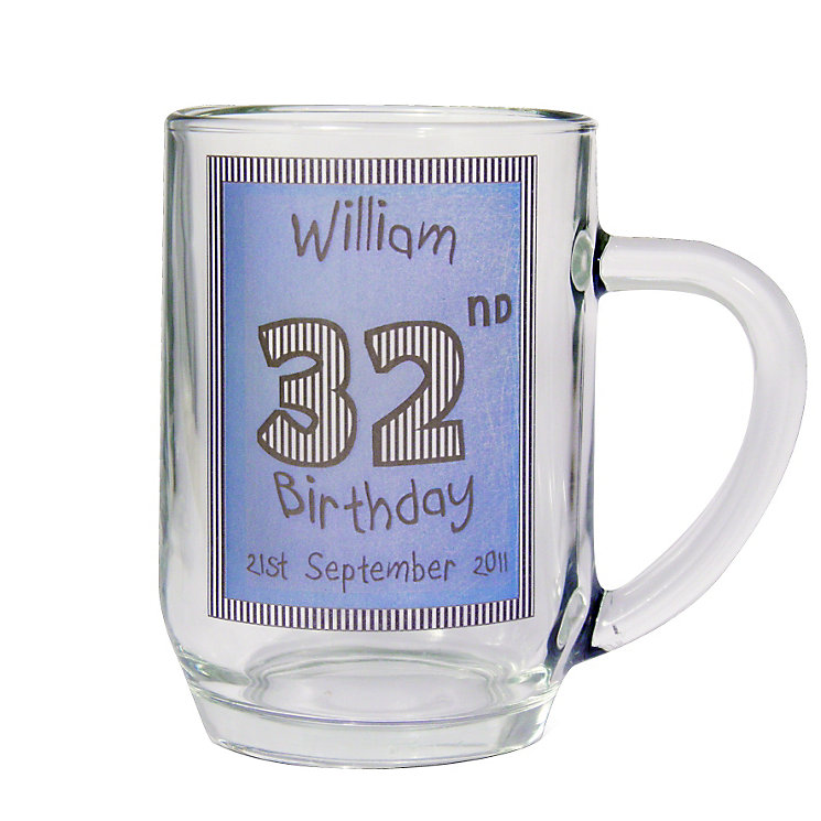 Personalised Blue Happy Birthday Tankard - Product number 1439413