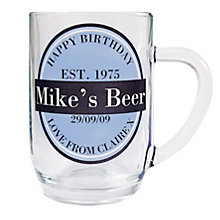 Personalised Beer Label Tankard - Product number 1439421