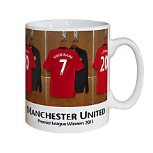Personalised Manchester United Dressing Room Mug - Product number 1439502