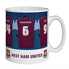 Personalised West Ham United Dressing Room Mug - Product number 1439529