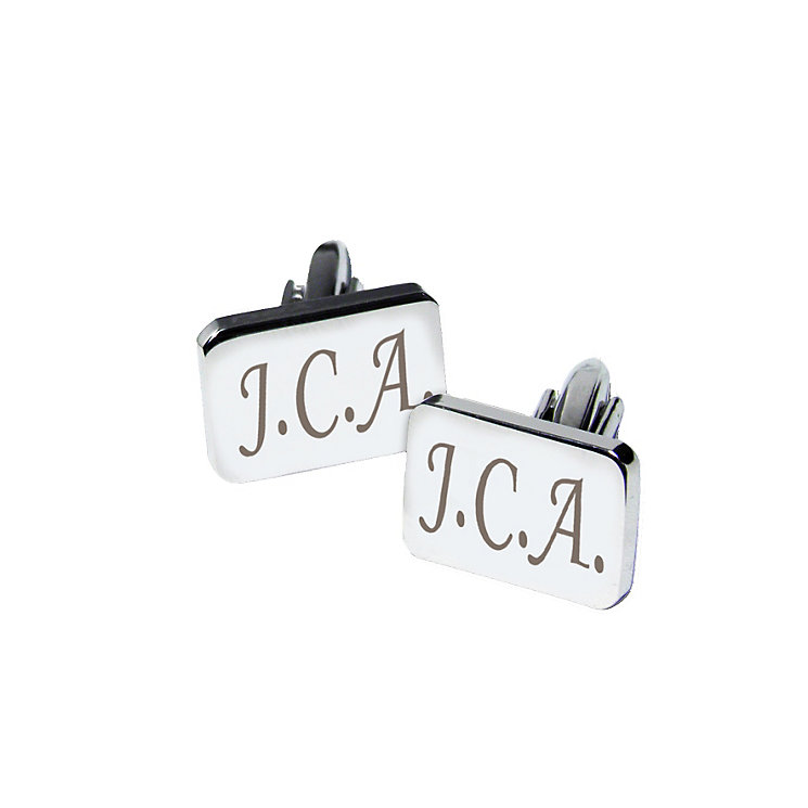 Engraved Rectangle Cufflinks - Product number 1439723