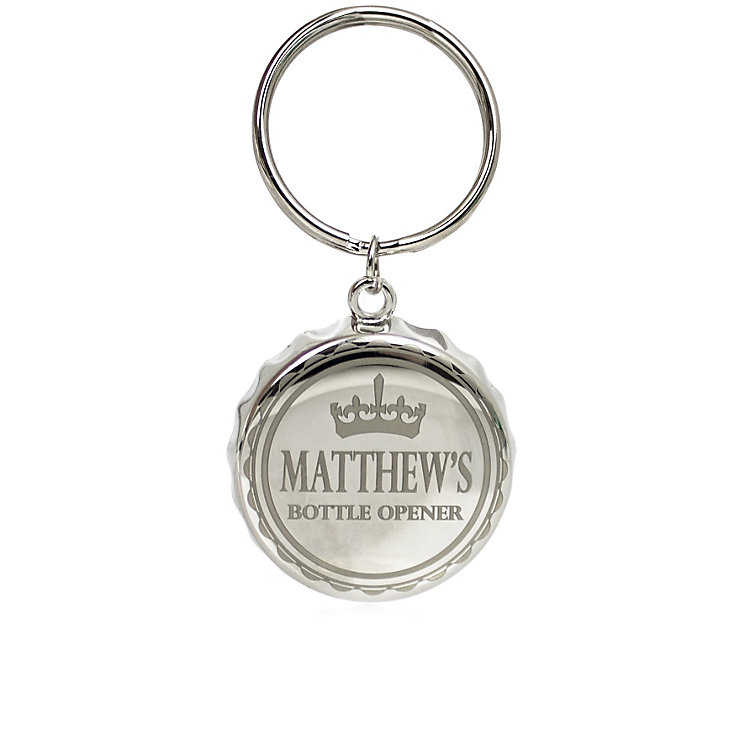 Engraved Crown Bottle Top Key Ring - Product number 1439758