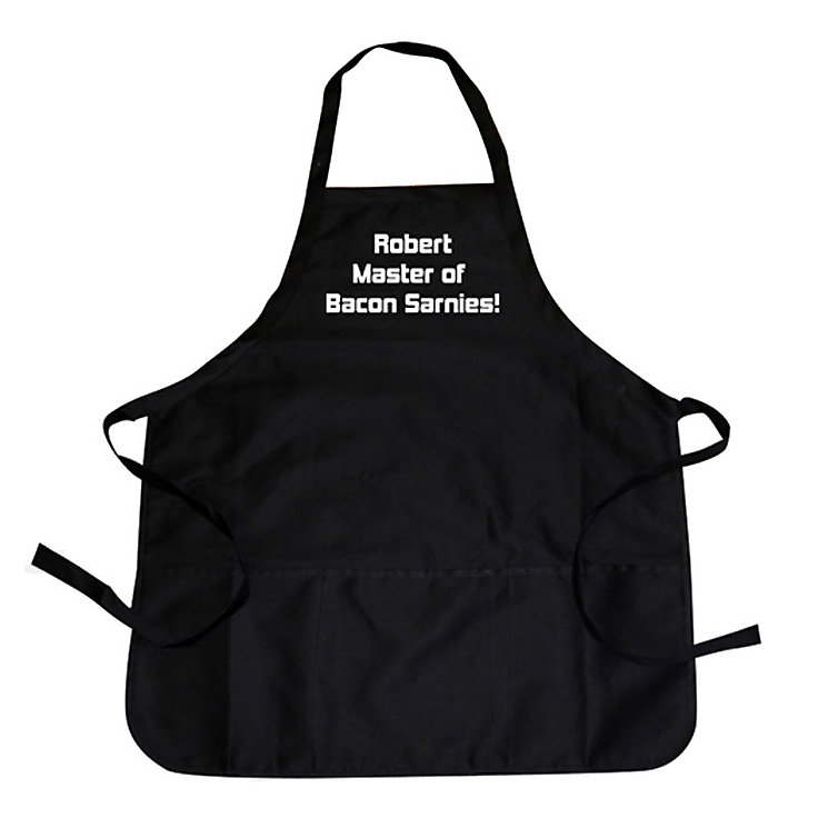 Personalised Black Apron - Product number 1439847
