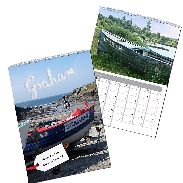 Personalised Boats Calendar - Product number 1440012