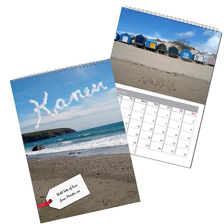 Personalised Coast Calendar - Product number 1440020