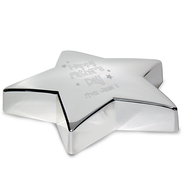 Engraved Fathers Day Star Paperweight - Product number 1440233