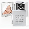 Engraved Photograph Frame Travel Clock - Product number 1440314