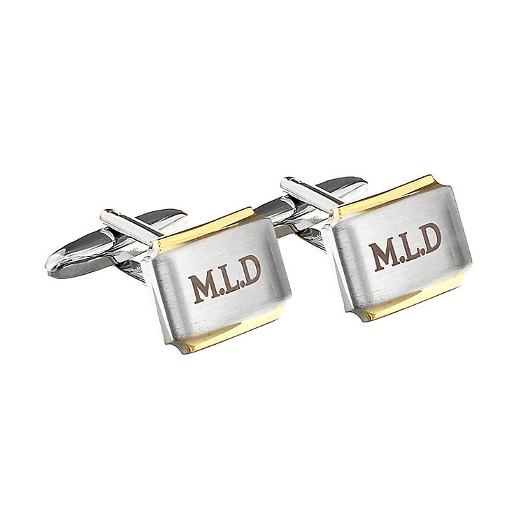 Engraved Gold Plated Cufflinks - Product number 1440322