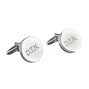 Engraved Round Cufflinks - Product number 1440357