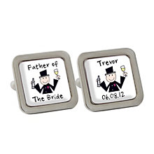 Personalised Cartoon Wedding Cufflinks - Product number 1440500
