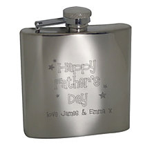 Engraved Stainless Steel Fathers Day Hip Flask - Product number 1440659