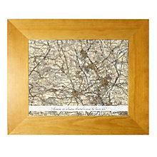 Personalised New Postcode Map 10x8 Frame - Product number 1440756