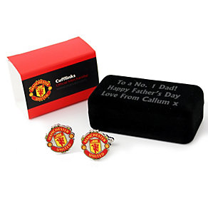 Personalised Manchester United Cufflinks - Product number 1440799
