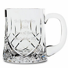 Engraved Half Pint Crystal Tankard - Product number 1440918