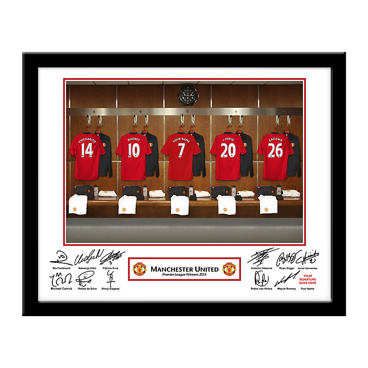 Personalised Manchester United Dressing Room Frame - Product number 1440934