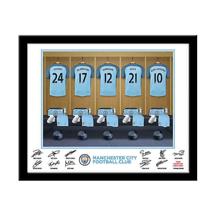 Personalised Manchester City Dressing Room Frame - Product number 1440950