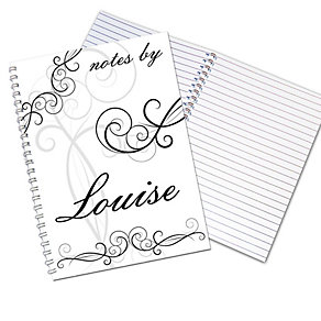 Personalised Ornate Swirl A5 Notebook - Product number 1441175