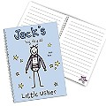 Personalised Purple Ronnie Wedding Little Usher Notebook - Product number 1441205