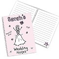 Personalised Purple Ronnie Wedding Bride Notebook - Product number 1441213