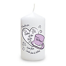 Personalised Hearts And Hats Butterfly Candle - Product number 1441280