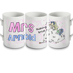Personalised Bang On The Door Wedding Bride Mug - Product number 1441582