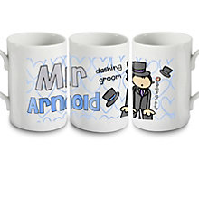 Personalised Bang On The Door Wedding Groom Mug - Product number 1441590